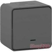 Переключатель с подсветкой накладной IP55, черный, Mureva Styl Schneider MUR35024