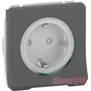 Розетка электрическая 220В IP55, черный, Mureva Styl Schneider MUR36134