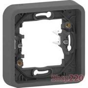 Рамка 1 пост с монтажными лапками IP55, черный, Mureva Styl Schneider MUR34108