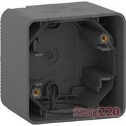 Коробка для накладного монтажа IP55, черный, Mureva Styl Schneider MUR37911