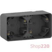 Коробка двойная для накладного монтажа IP55, черный, Mureva Styl Schneider MUR37914
