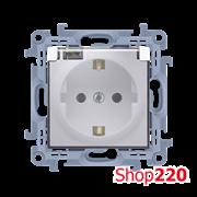 Розетка IP44 с прозрачной крышкой, белый, SIMON10