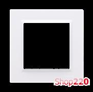 Рамка одинарная, белый, SIMON10