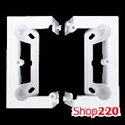 """Подрозетник настенный наборной тип """"С"""", белый (в комплекте 2 шт, глубина 40 мм ), SIMON10"""