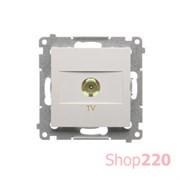 Розетка TV, белый, SIMON54