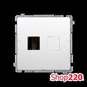 Розетка HDMI, белый, Basic Simon