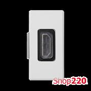 """Розетка HDMI тип """"А"""", 1 модуль, белый, К45 Simon K129B/9"""