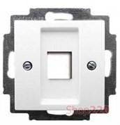 Накладка для компьютерной розетки, белый, ABB 2561-94-507 Basic 55