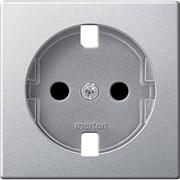 Накладка электрической розетки, алюминий, Merten MTN2331-0460
