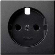 Накладка электрической розетки, антрацит, Merten MTN2331-0414